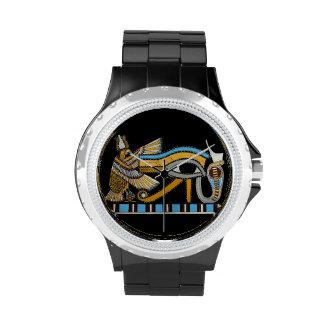 Ojo del reloj del diamante artificial de Horus