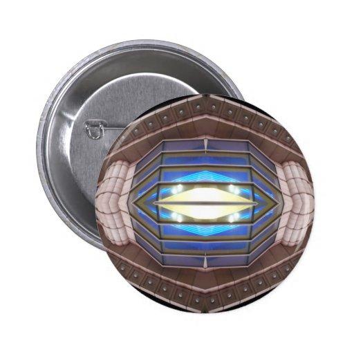 Ojo del robot - productos del arte del SciFi de Cr Pin Redondo De 2 Pulgadas