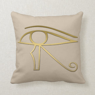 Ojo del símbolo del egipcio de Horus Almohada