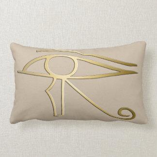 Ojo del símbolo del egipcio de Horus Cojin