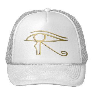 Ojo del símbolo del egipcio de Horus Gorro