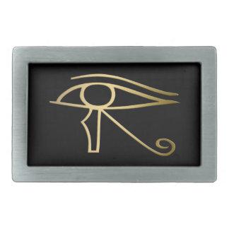 Ojo del símbolo del egipcio de Horus Hebillas De Cinturon Rectangulares