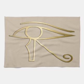 Ojo del símbolo del egipcio de Horus Toallas