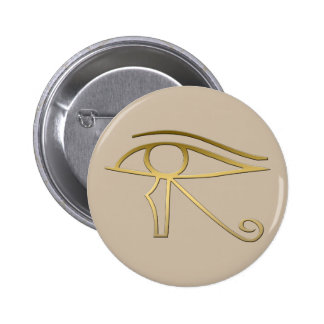 Ojo del símbolo del egipcio de Horus Pin Redondo 5 Cm