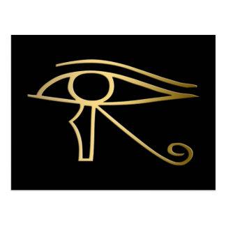 Ojo del símbolo del egipcio de Horus Postales