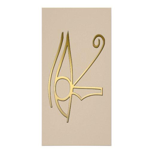 Ojo del símbolo del egipcio de Horus Tarjeta Fotografica Personalizada