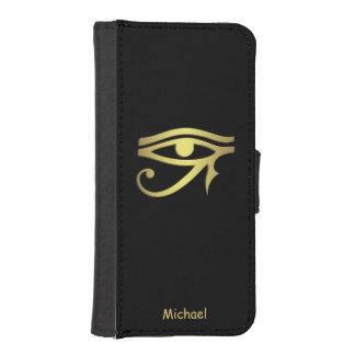 Ojo del símbolo del egipcio del horus billetera para teléfono