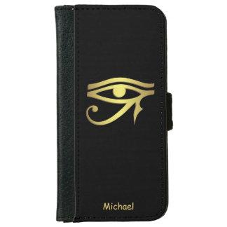 Ojo del símbolo del egipcio del horus funda cartera para iPhone 6