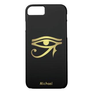 Ojo del símbolo del egipcio del horus funda iPhone 7