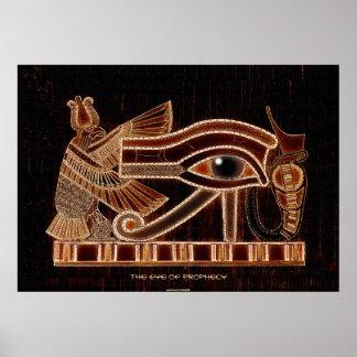Ojo del símbolo egipcio antiguo de Horus de la pro Póster