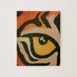 Ojo del tigre puzzle con fotos