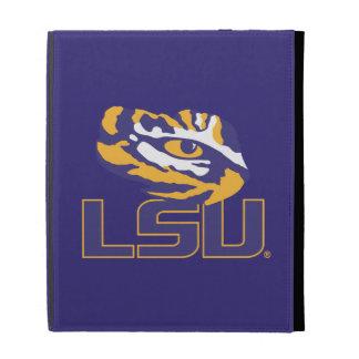 Ojo del tigre sobre el oro y la púrpura de LSU