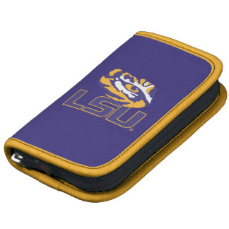 Ojo del tigre sobre el oro y la púrpura de LSU Organizador