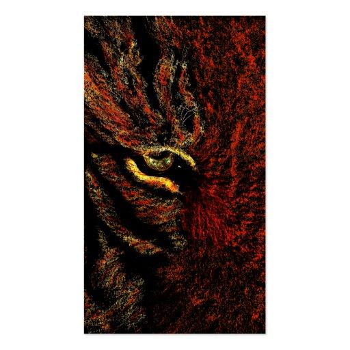 ojo del tigre tarjeta de visita