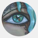 Ojo del universo etiquetas redondas