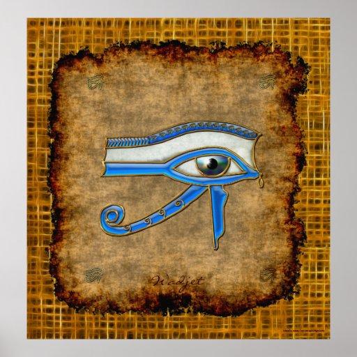 Ojo egipcio antiguo de Wadjet del poster del arte
