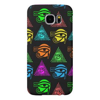 Ojo egipcio antiguo del modelo multicolor de Horus Fundas Samsung Galaxy S6