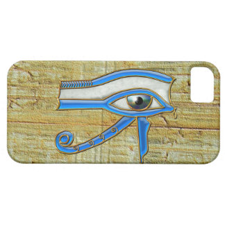 Ojo egipcio azul del caso del iPhone 5 de Horus Funda Para iPhone 5 Barely There