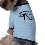 Ojo egipcio de Horus Camisas De Perritos