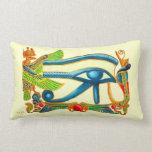 Ojo egipcio de Horus - monograma Cojin