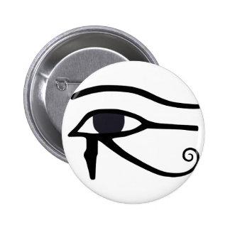 OJO EGIPCIO DE HORUS PIN REDONDO DE 2 PULGADAS
