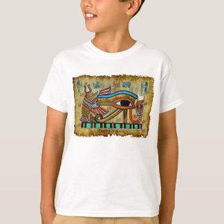 Ojo egipcio de la camiseta antigua del diseñador playeras
