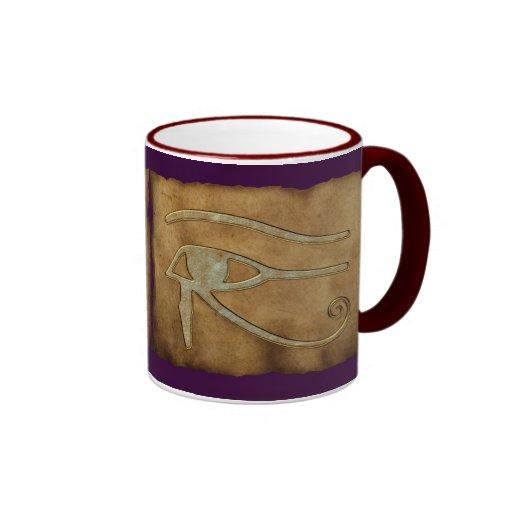 Ojo egipcio de las tazas del regalo de Horus Wadje
