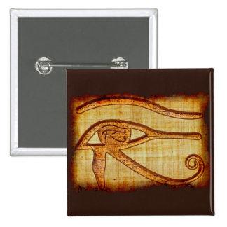 Ojo egipcio del arte antiguo del Papiro-efecto de Pin Cuadrado