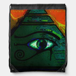 Ojo egipcio místico de Horus Mochilas