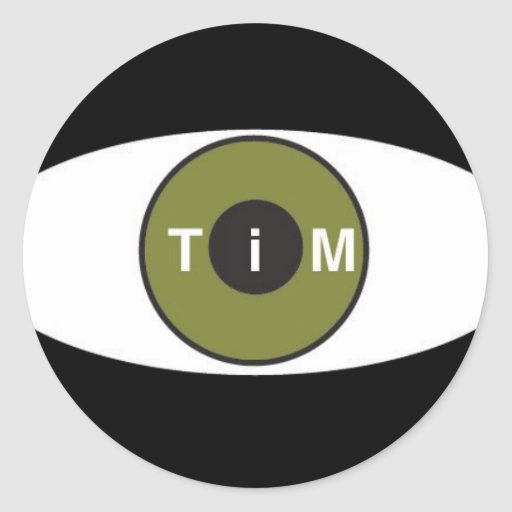 Ojo en el pegatina de Tim