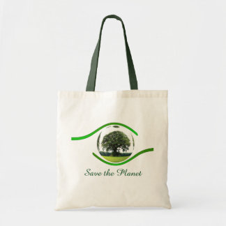Ojo en la ecología bolsa