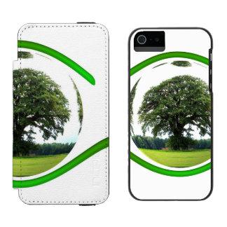 Ojo en la ecología funda billetera para iPhone 5 watson