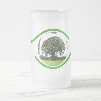 Ojo en la ecología taza de cristal