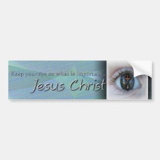 Ojo en la pegatina para el parachoques de Jesús Pegatina Para Auto