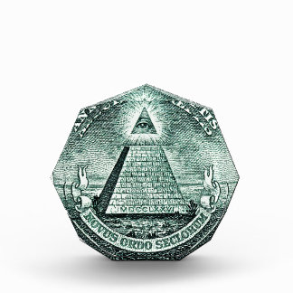 Ojo en la pirámide de Illuminati del dólar