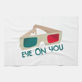 Ojo en usted toallas de mano