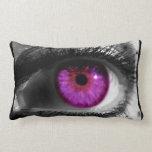 Ojo estrellado púrpura almohada