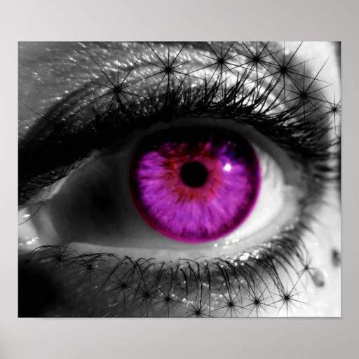 Ojo estrellado púrpura impresiones