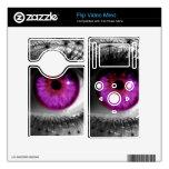 Ojo estrellado púrpura calcomanía para el flip mino