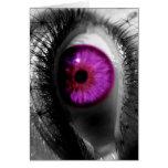Ojo estrellado púrpura tarjetas