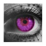 Ojo estrellado púrpura teja cerámica