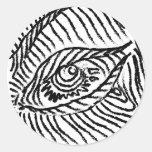 ojo etiquetas redondas