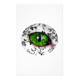 Ojo femenino elegante fresco de la novia del boda  papeleria de diseño