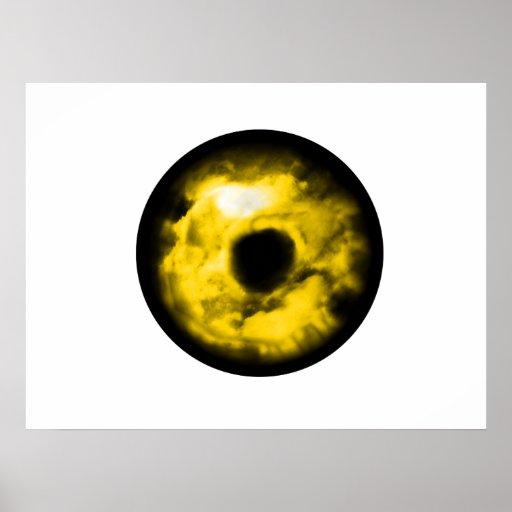 ¿Ojo gráfico del monstruo del ojo amarillo? Cósmic Póster