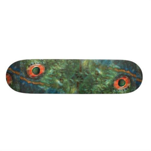 Ojo hermoso de un pez papagayo patin personalizado