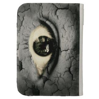 Ojo humano serrounded pelando la piel