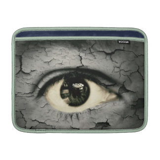 Ojo humano serrounded pelando la piel fundas MacBook