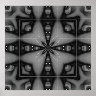 Ojo II del caleidoscopio Poster