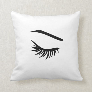 Ojo izquierdo y latigazo de la almohada del ojo de cojín decorativo