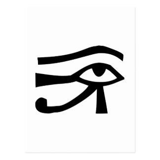 Ojo, jeroglífico egipcio tarjeta postal